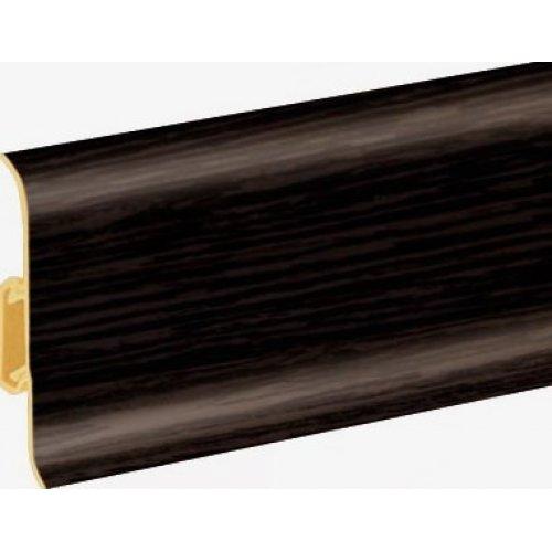 Плинтус Cezar Premium Wenge темний пластиковый с кабель-каналом (матовый) 59х22х2500